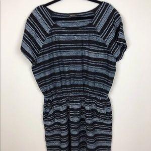 Lucky Brand 100% Cotton Striped Dress XL